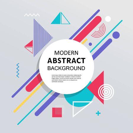 Círculo abstracto con diseño y fondo del patrón geométrico de la insignia. Úselo para diseño moderno, portada, decoración, folleto y plantilla.