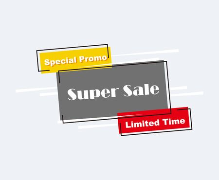 Collection of Sale Discount Styled Banners, Labels, Tags, Emblems. Popup Flat design. Stock Illustratie