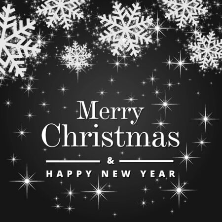 Merry Christmas and Happy New Year typography vector design for greeting cards and poster Illusztráció