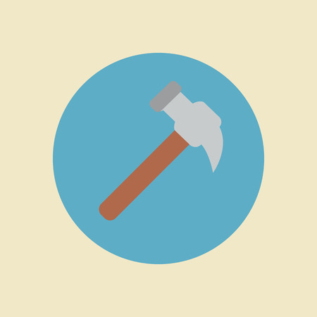 claw hammer: Claw hammer flat icon Stock Photo