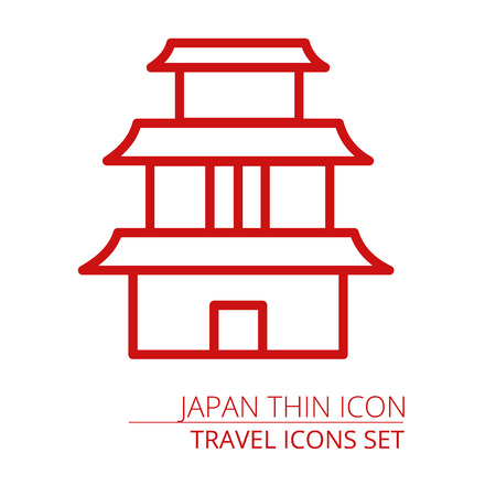 Asian Pagoda Tower vector icon isolated Part of travel icons set EPS10