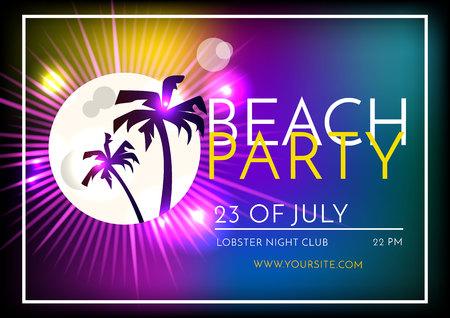 beach party: Summer Beach Party Template Design