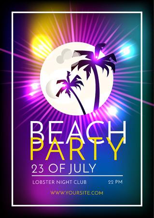 Summer Beach Party Template Design