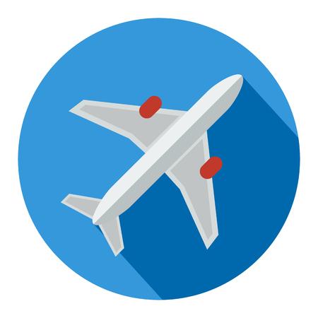 Airplane thin icon