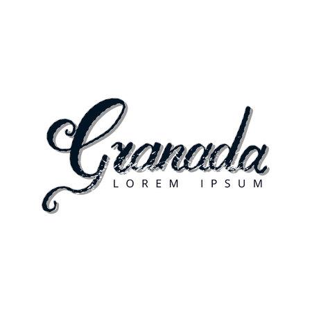 グラナダ手レタリング ロゴ