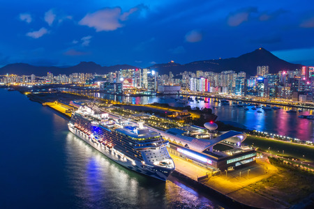 Kai Tak Cruise Terminal night view