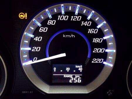 mileage: Car indicator mileage