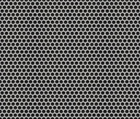 grid: Fori Metal Plate - Pattern Seamless Texture Sfondo Archivio Fotografico
