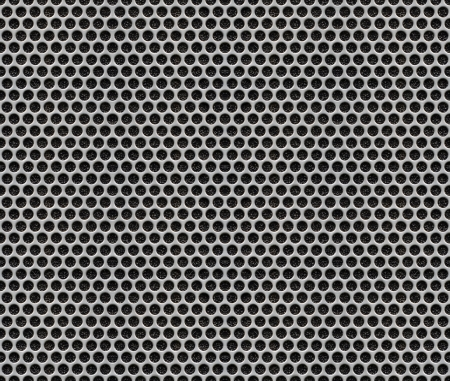 Holes Metal Plate - Seamless Pattern Texture Background Stock Photo - 20242402