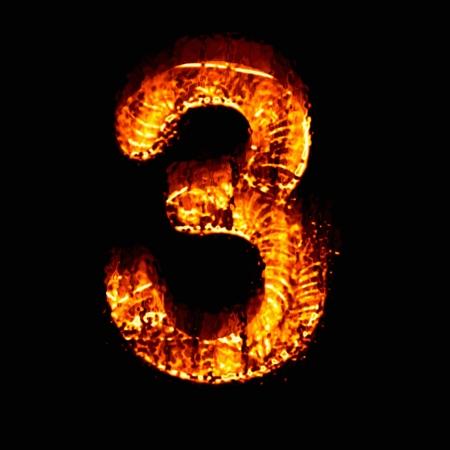 numeric: Fire numeric, Number 3