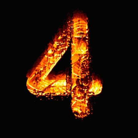 numeric: Fire numeric, Number 4