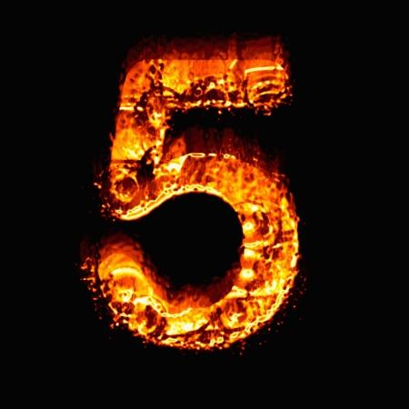 numeric: Fire numeric, Number 5