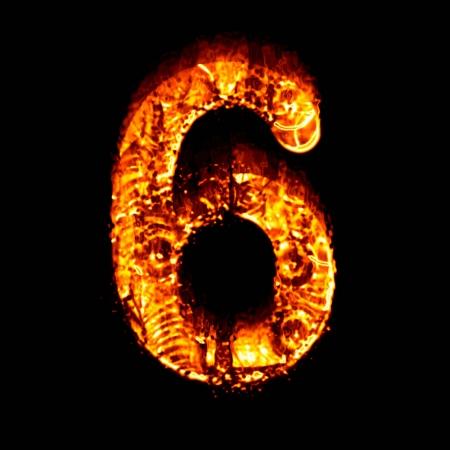 numeric: Fire numeric, Number 6