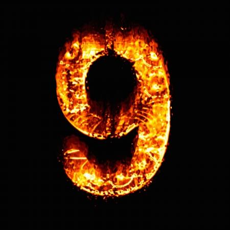 numeric: Fire numeric, Number 9