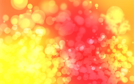 Soft red yellow orange white abstract background with beautiful glitter twinkling bokeh Banco de Imagens