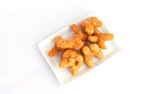 patongkoh: deep-fried dough stickPatongko on white background.