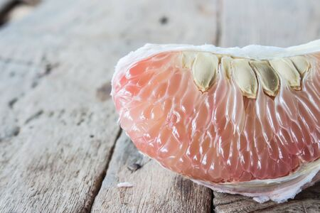 sectioned: pomelo fruit