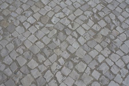 a pattern created by the sidewalk stones Stock Photo - 5424370