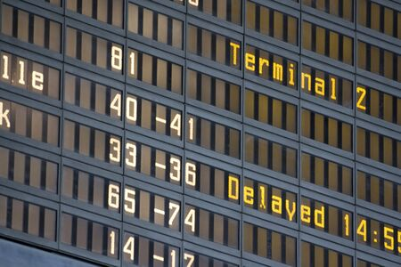 an airport billboard