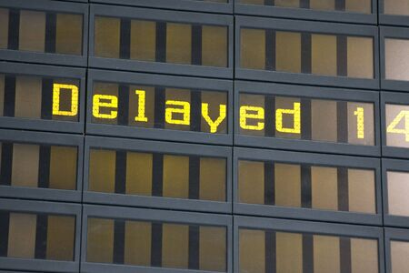 delay: an airport billboard