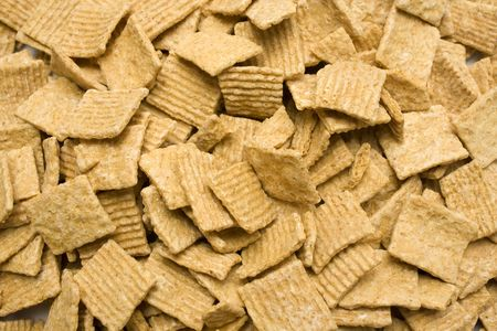 A background of chrunchy cereal from above