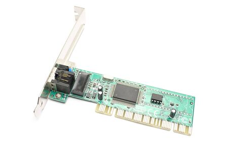 one ethernet card isolated in white background