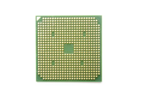 One central processing unit isolated in white background