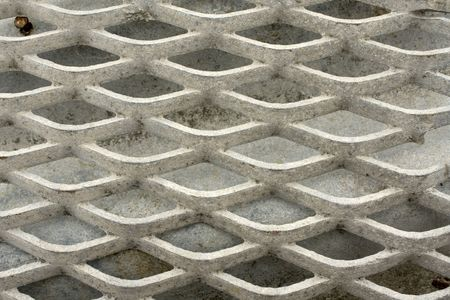 Close up on a grid; gray pattern Stock Photo - 6747061