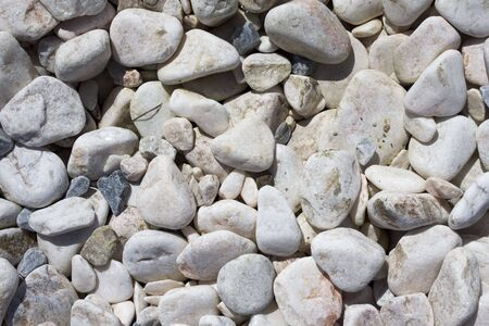 a patter created by river stones, full frame Stock Photo - 6747047