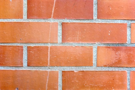 a orange pattern created by some clay bricks Stock Photo - 7542418