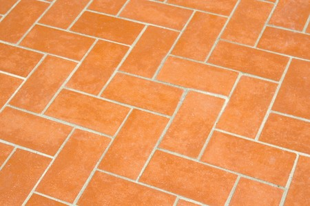 a orange pattern created by some clay bricks Stock Photo - 7542372