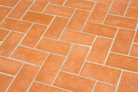 a orange pattern created by some clay bricks Stock Photo - 7542409
