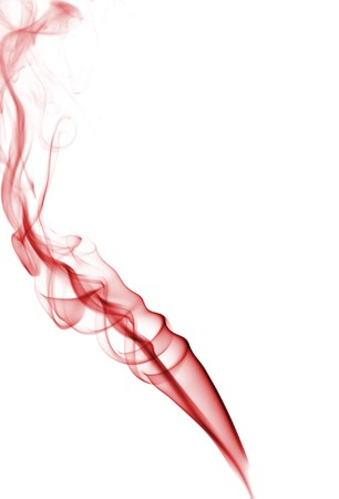 A colorful and abstract smoke, isolated in white background