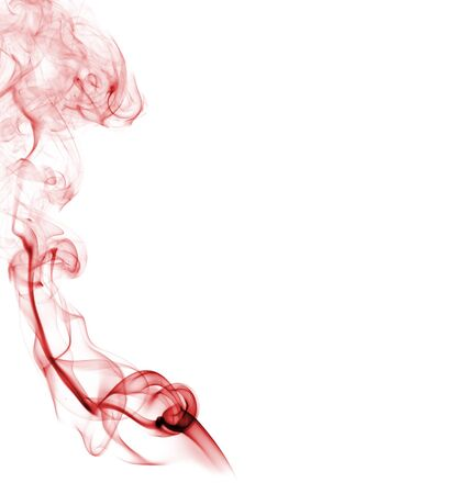 A colorful and abstract smoke, isolated in white background photo