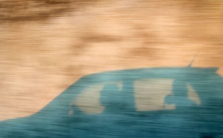 one abstract image of a car in high velocity Stock Photo