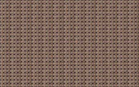 royal pattern made of brown wood and gold metal Stock Photo - 17929504