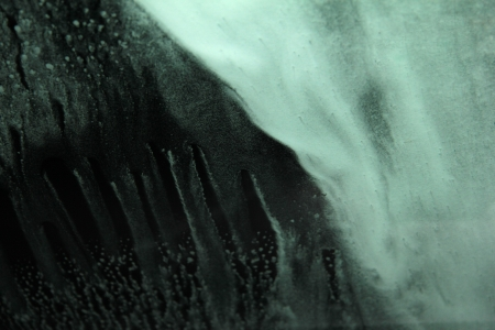 one abstract background made of water foam