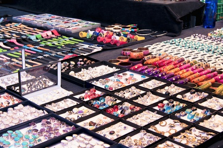 A Jewllery store in the street with a big collections of  accessories  Editorial