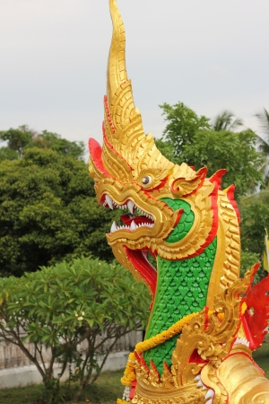 Serpent at Ubon Ratchathani in Thaland photo