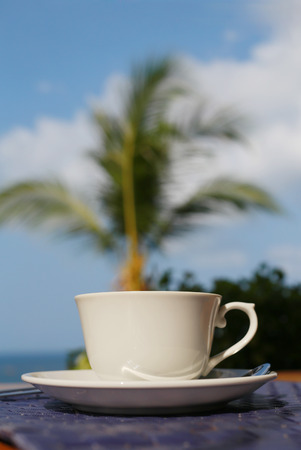 coffee on the beach  photo