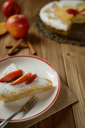 Apple pie sprinkled with sugar