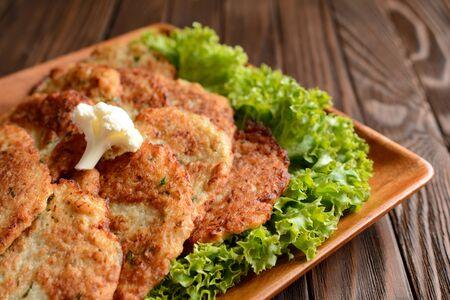cauliflower: Cauliflower pancakes