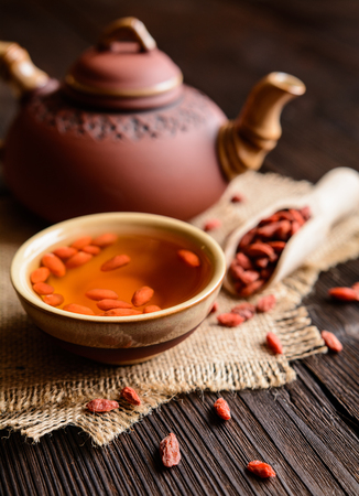 increase fruit: A cup of antioxidant Goji berries tea