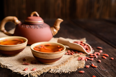 A cup of antioxidant Goji berries tea