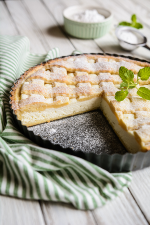 Crostata di Ricotta - traditional Italian curd pie