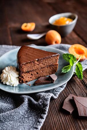 Sacher cake - traditional Austrian chocolate dessert