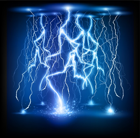 vector lightning flash strike background Stock Vector - 10673934