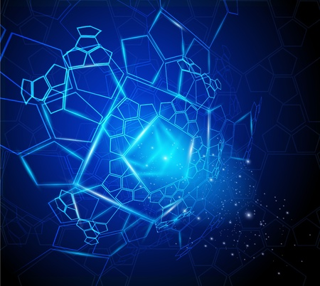 vector abstract high-tech background Illustration