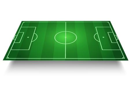 cancha de futbol: F�tbol  F�tbol en campo vectorial en 3D Vectores