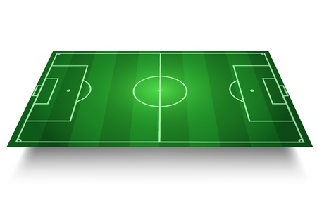 football field: SoccerFootball Field vector 3D